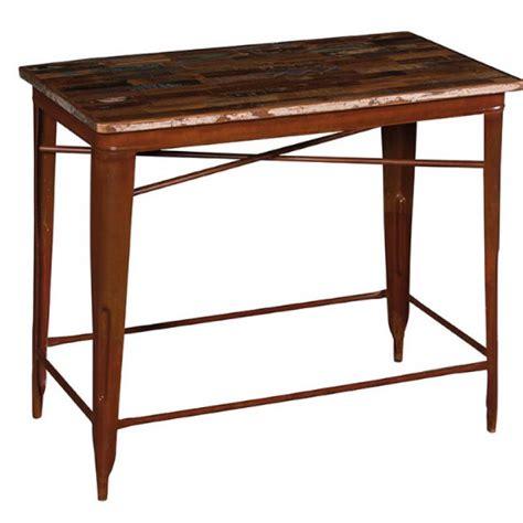 tavolo pub tavolo pub industrial ferro e legno etnico outlet mobili