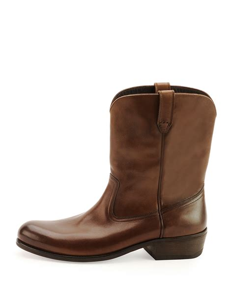 tom ford boots tom ford christopher leather cowboy boot in brown for