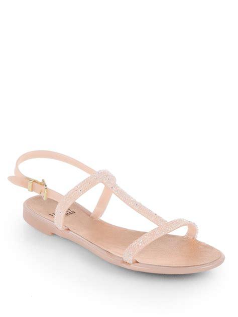 stuart weitzman jelly sandals stuart weitzman teezer jelly sandals in pink lyst