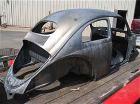 vw beetle body parts metalworks paint rust removal acid dipping metal