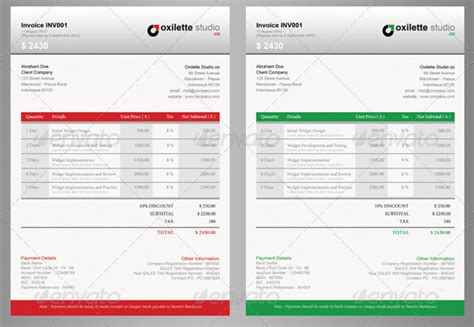design invoice template indesign images