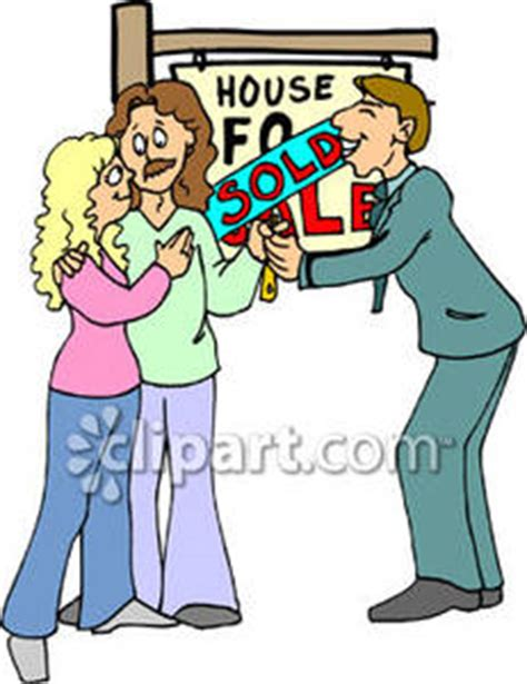 buying a house without using an estate agent real estate agent putting a sold sign on a house royalty free clipart picture