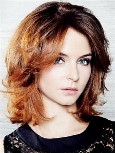 narrow face hairstyles 2014 trendy casual medium length wavy hairstyles long