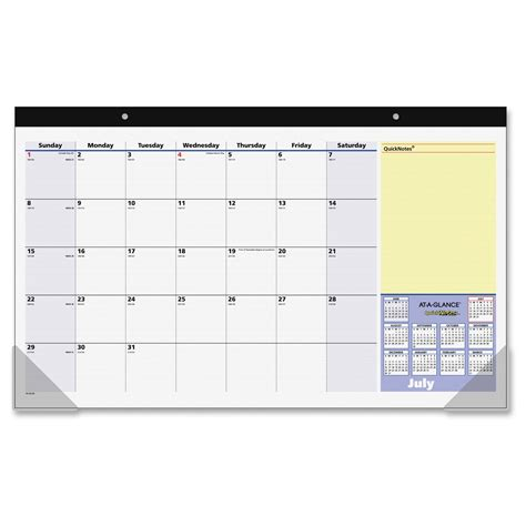 Office Depot Desk Calendar At A Glance Monthly Desk Pad Calendar Ld Products