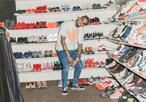 Brown Shoe Closet by Chris Brown Shows His Sneaker Collection