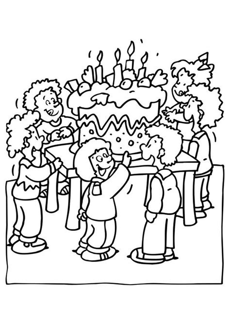 coloring page birthday party party birthday coloring pages for kids birthday coloring