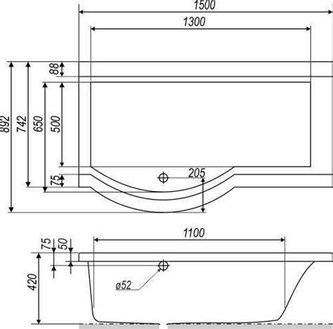 abmessungen badewanne dusch badewanne space multi 150 x 90cm links raumsparwanne