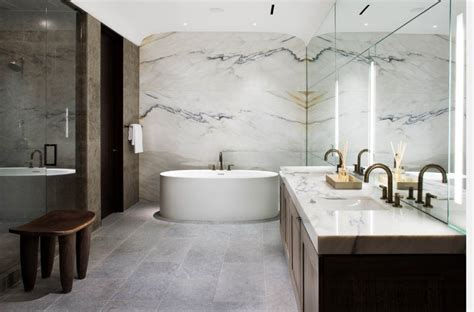 modern stone bathroom 10 spectacular rooms with marble walls
