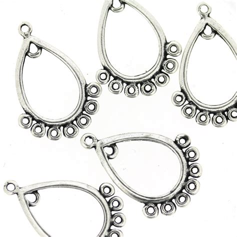 Chandelier Earring Components Antique Silver Chandelier Earring Component