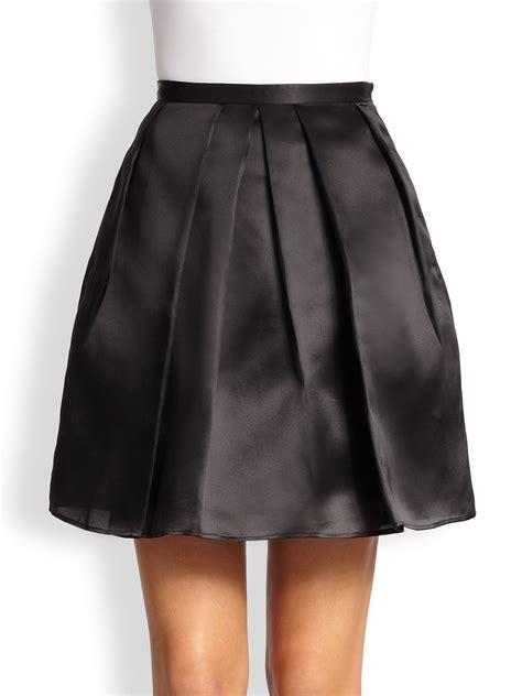 burberry organza mini skirt in black lyst