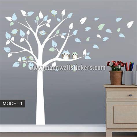 Owl Wall Mural adhesivo vinilo b 250 hos 193 rbol y p 225 jaros moonwallstickers com