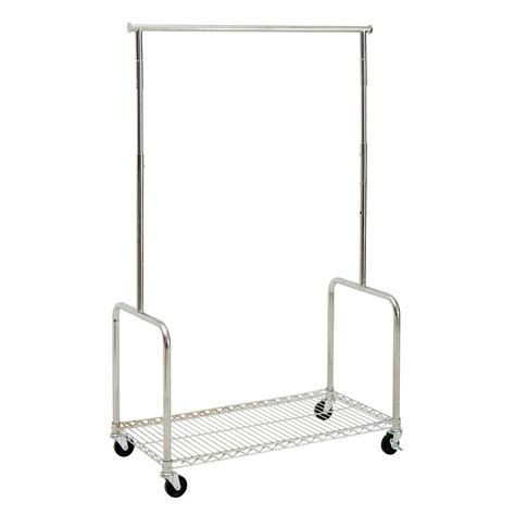 Rolling Garment Rack by Rolling Clothing Rack With Shelf