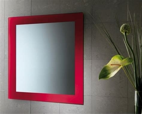 red bathroom mirror red horizontal or vertical mirror with frame