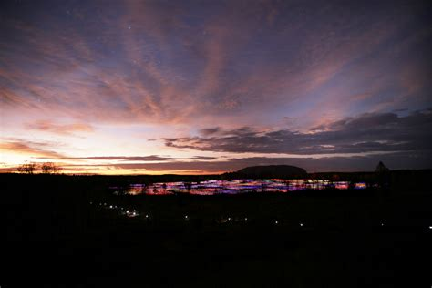 a at field of light spectacular field of light installation comes to uluru