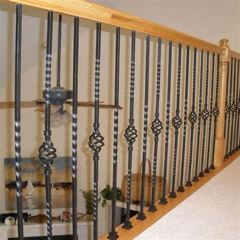 Wrought Iron Stair Balusters Single Twist Baluster L Wrought Iron Balusters L Iron