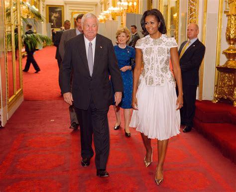 michelle obama in london michelle obama in j mendel michelle obama style at the