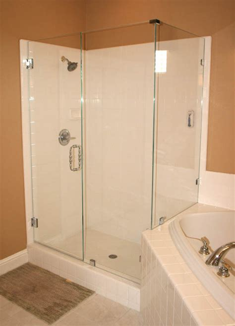 How To Install Frameless Shower Doors Semi Frameless Glass Shower Doors Pictures Decor Ideasdecor Ideas