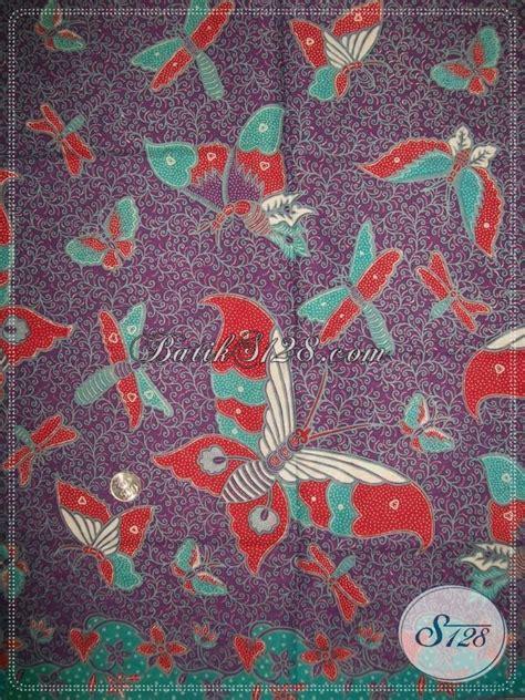 Aneka Sprei Motif Kupu jual kain batik motif kupu warna kain ungu yang banyak