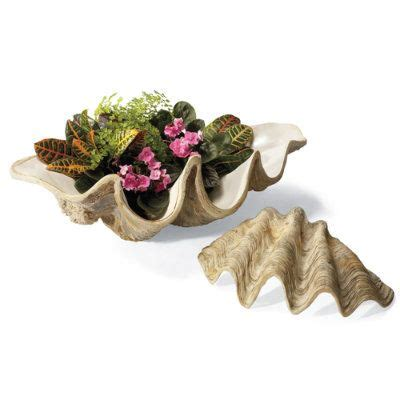 Clamshell Planter by Clam Shell Planters Grandinroad Garden Yard