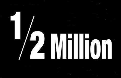 Half A Millionthat Is An Absolutely 2 by 1 2 Million Visitors Wandervogel Diary