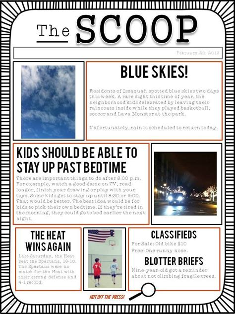 newspaper layout project customizable newspaper template great for classroom or