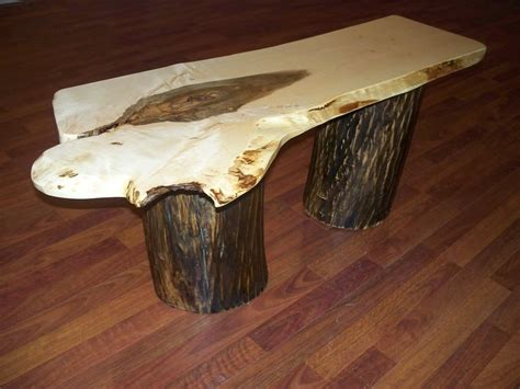 log slab tree stump bench coffee table by texpenn