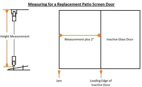sliding patio screen door measurement the home depot