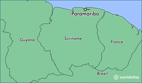 where is suriname on world map where is paramaribo suriname where is paramaribo