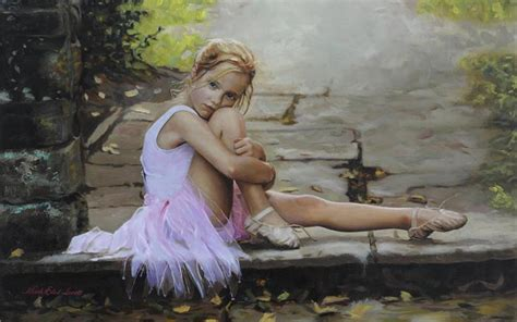 little girl art little girl ballerina wallpapers and images wallpapers