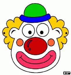 clown mask template printable clown faces pictures to pin on pinsdaddy