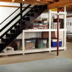 picture of basement stairs storage
