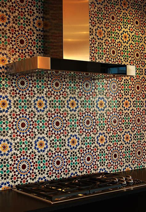 moroccan tile backsplash kitchen inspirations