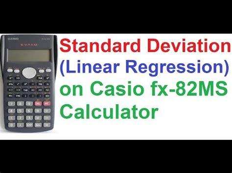calculator regression online casio fx 991es calculator tutorial 4 number systems mode