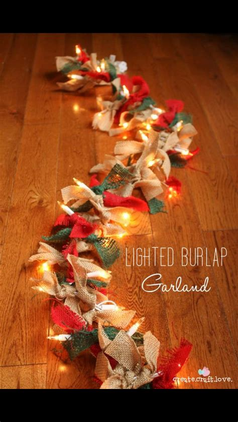 how to string ribbon on a tree 1 string of lights 2 burlap ribbon of any color 3 crafts by n montgomery