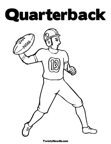 nfl quarterback coloring pages free coloring pages