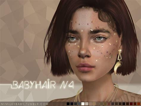 sims 4 baby hair edges daerilia s mimilky babyhair n4