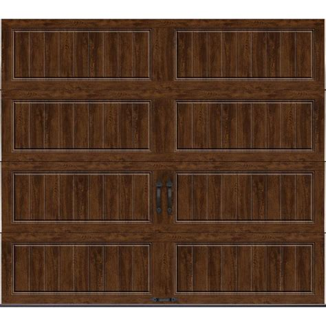 Clopay Gallery Collection 8 Ft X 7 Ft 6 5 R Value Garage Door 8 X 7