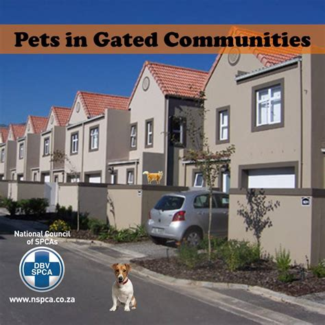 what does the nspca say about gated community living and pets pethealthcare co za