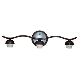portfolio 3 light oil rubbed bronze bathroom vanity light shop portfolio d c 3 light dark oil rubbed bronze bathroom