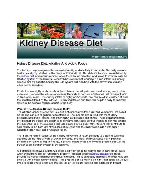 food kidney disease kidney disease diet alkaline and acidic foods