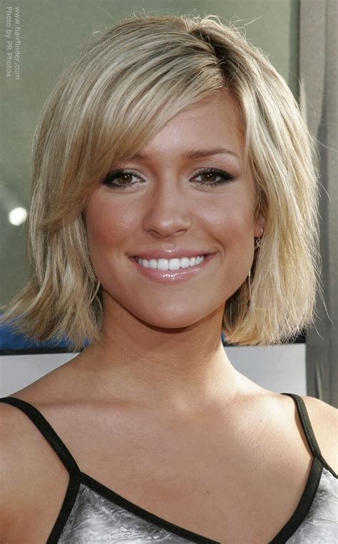 pictures of hairstyle neck line kristin cavallari with her hair cut short and halfway up