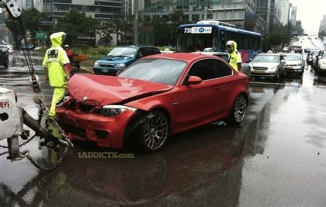 bmw 1 series m coupe crashed already performancedrive