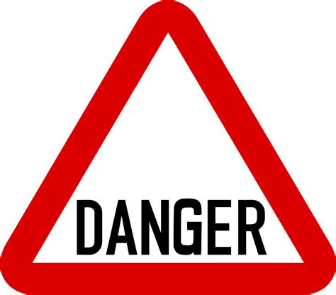 The Danger danger sign cliparts co