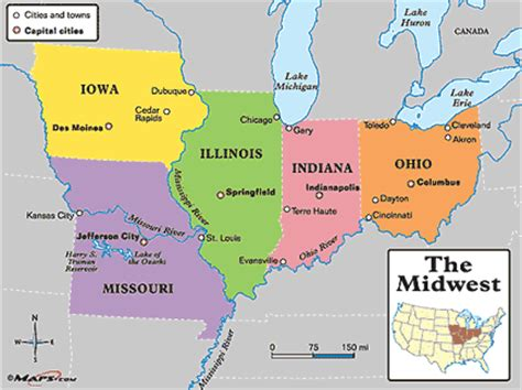 map us midwest states midwestern united states middle west u s midwest u s