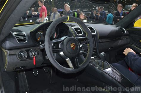 porsche cayman 2015 interior porsche cayman gt4 interior at the 2015 geneva motor show