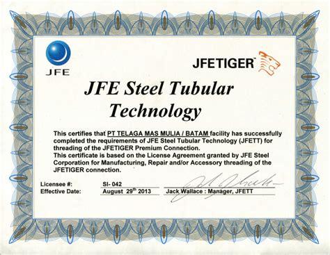 telaga mas mulia certifications