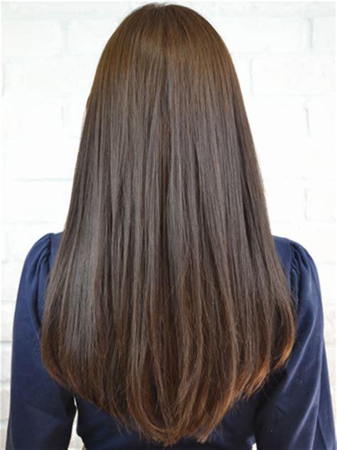 straight hair with black and brown at bottom シンプルストレートロング ロング ビューティーboxヘアカタログ