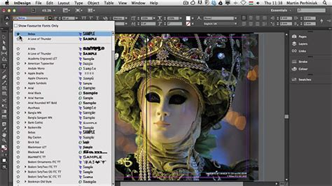 in design tutorial indonesia what s new with adobe indesign cc the new font selector
