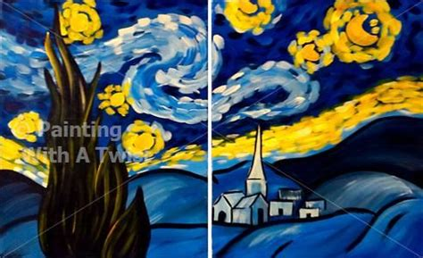 paint with a twist tallahassee starry couples series tallahassee painting class
