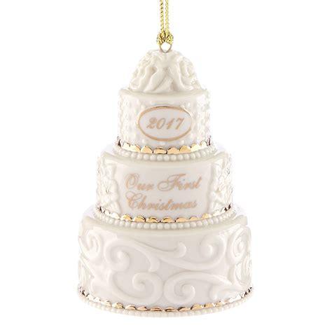 our first christmas ornament 2017 wedding cake lenox